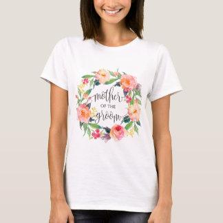moeder van bruidegom bloemenkroon -3 t shirt