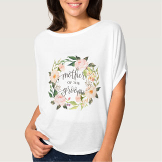 moeder van bruidegom bloemenkroon -4 t shirt