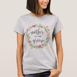 moeder van bruidegom bloemenkroon -5 t shirt