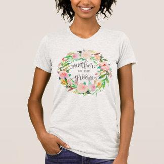 moeder van bruidegom bloemenkroon -6 t shirt