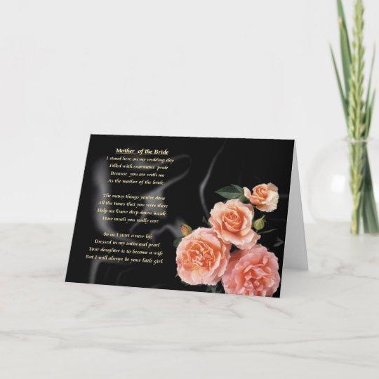 Bekend Moeder van het Gedicht van de Bruid - Roze Bloemen Kaart   Zazzle.nl #JU65