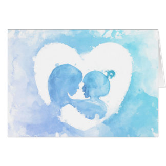 Moederdag - de Moeder & het Kind van de Waterverf Kaart