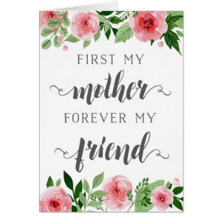 Moederdag, eerst een moeder, voor altijd mijn wenskaart