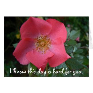 Moederdag:  Ik weet deze dag voor u hard is Briefkaarten 0