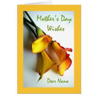 Moederdag voor Nana, Calla Lelies Wenskaart
