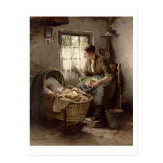 Moederlijke Affectie (olie op canvas) Briefkaart