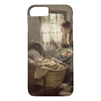 Moederlijke Affectie (olie op canvas) iPhone 7 Hoesje