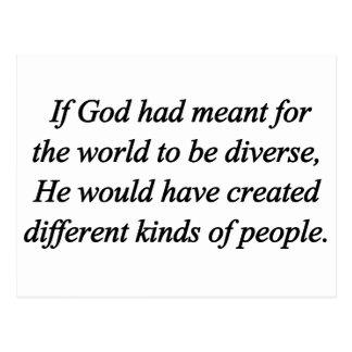 Moedig de Norm van de Diversiteit aan Briefkaart