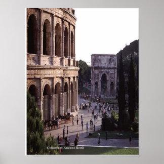 Moeilijke vraag van Rome van Colosseum de Oude Poster