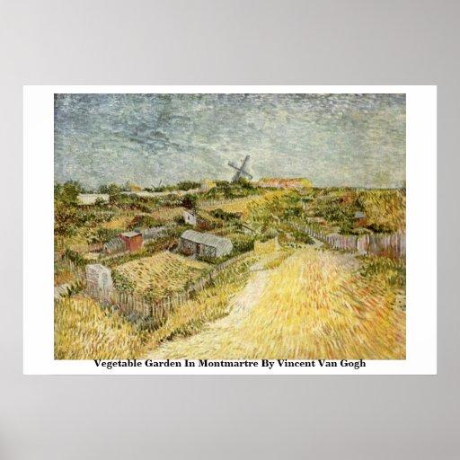 Moestuin in Montmartre door Vincent van Gogh Afdruk