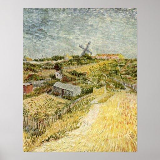 Moestuin in Montmartre door Vincent van Gogh Poster