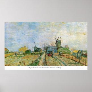 Moestuin in Montmartre - Vincent van Gogh Print