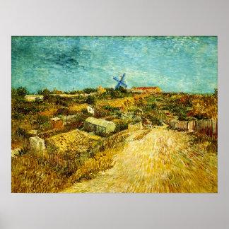 Moestuinen in Montmartre (van Gogh) Poster