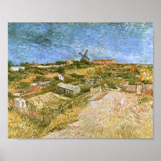 Moestuinen in Montmartre, Vincent van Gogh Poster