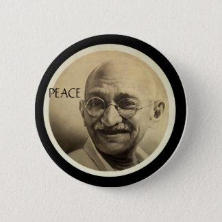 Mohandas Gandhi Ronde Button 5,7 Cm