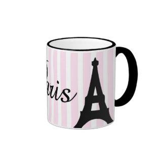 mok, Parijs, de toren van Eiffel Mok Gekleurder Rand En Oor