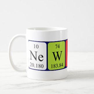 Mok van de de lijstnaam van Newton de periodieke