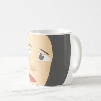 Mok van de Koffie van het meisje de Schreeuwende