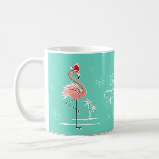 Mok van het Vakantie van de Flamingo van Kerstmis