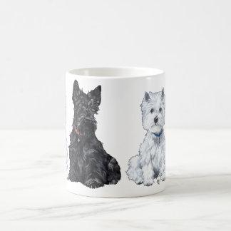 Mok van Terrier van het Hoogland van Schot en van