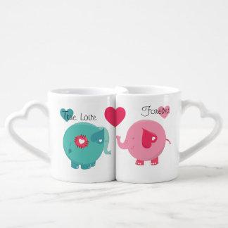 Mokken van de Minnaars van de Liefde van olifanten