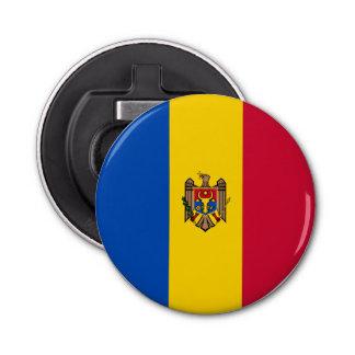 Moldova Vlag Button Flesopener