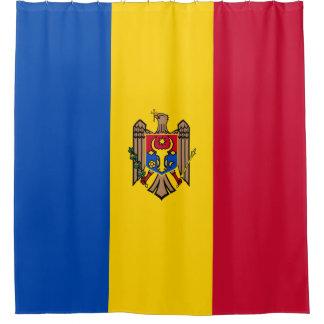 Moldova Vlag Douchegordijn