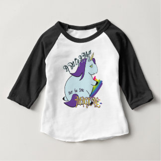 Mollige Eenhoorn die een Regenboog eten - Magisch Baby T Shirts