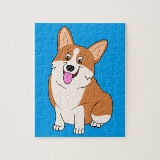Mollige Welse Cartoon Corgi Puzzel