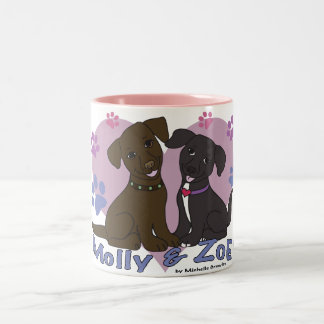 Molly & Zoe Tweekleurige Koffiemok