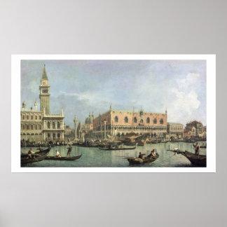 Molo en Piazzetta San Marco, Venetië (olie Poster