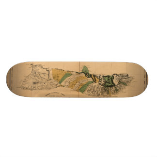 Molokai, 1897, de Vintage Kaart van Hawaï Skateboard Deck