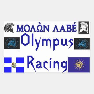 Molon Labe die Olympus Sticket rennen Rechthoekige Sticker