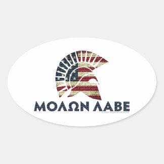 Molon Labe! Ovale Sticker