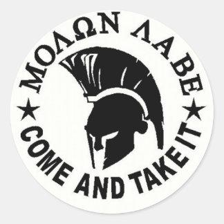 Molon Labe Ronde Sticker
