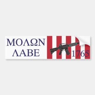 Molon Labe/Zonen van de Sticker van de Bumper van