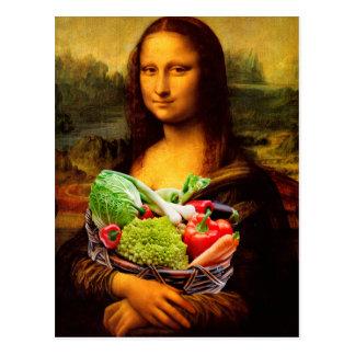 Mona Lisa Loves Vegetables Briefkaart