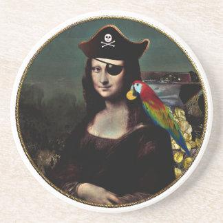 Mona Lisa Pirate Kapitein Zandsteen Onderzetter