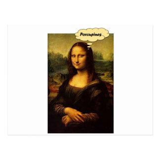 Mona Lisa Porcupines Briefkaart