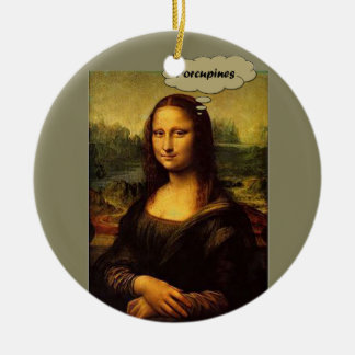Mona Lisa Porcupines Rond Keramisch Ornament