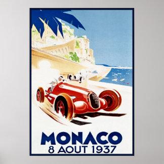 Monaco 1937, Art. Vintag Poster