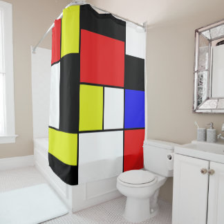 Mondrian #21-2 gordijn         0