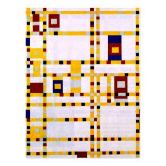Mondrian - Broadway Boogie Woogie Briefkaart