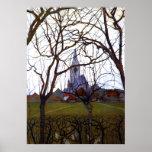 Mondrian - de Kerk van het Dorp Poster