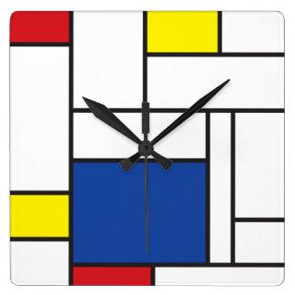 Mondrian de Klok van de Minimalist DE Stijl Modern
