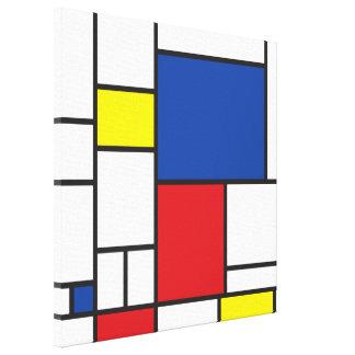 Mondrian de Minimalist DE Stijl Modern Douane van Canvas Bedrukken