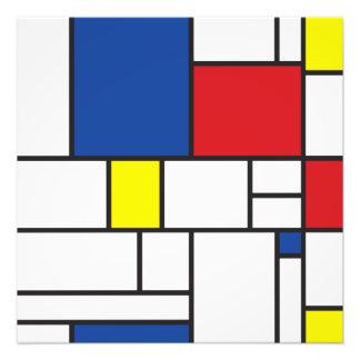Mondrian de Minimalist DE Stijl Modern Douane van Foto Kunst