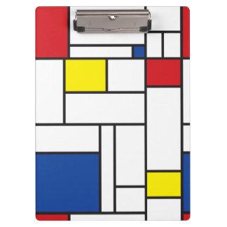 Mondrian de Minimalist DE Stijl Modern Douane van Klembord