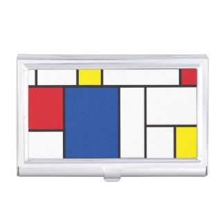 Mondrian de Minimalist DE Stijl Modern Douane van Visitekaarthouder