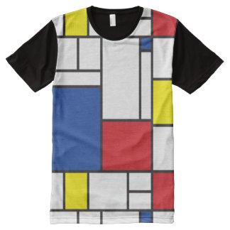 Mondrian de Minimalist DE Stijl Modern T-shirt van